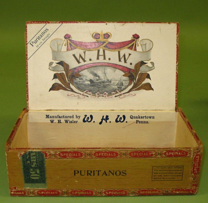"""""""Puritanos"""" Cigar Box"""