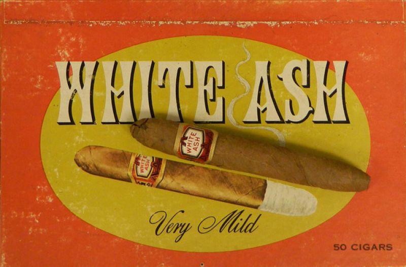 """""""White Ash"""" Cigar Box Label"""