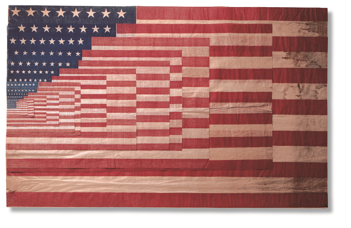 Exhibit long may she wave a graphic history of the for History of american flags