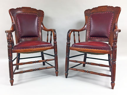 Two Jury Chairs from the Bucks County Courthouse (MM2019.03)