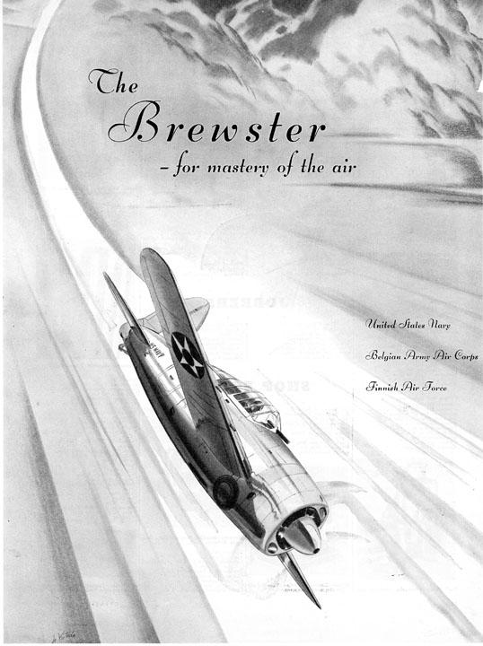 Brewster Aeronautical Corporation advertisement, 1940