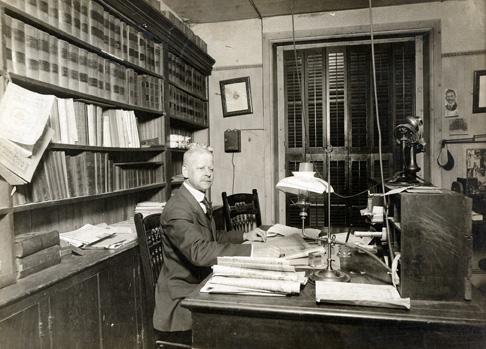 Librarian George MacReynolds